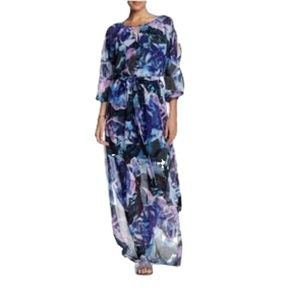 Vince Camuto Maxi Long Floral Plus Dress 16 New